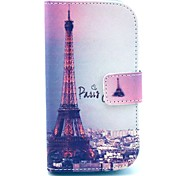 Signature Eiffel Tower Pattern PU Leather Case with Card Holder for Samsung Galaxy Trend Duos S7562