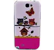 Owlet Ein Muster weiche Tasche für Samsung Galaxy Note N7100 2