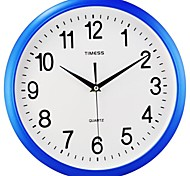 """Timess™ 12""""H  Brief Style Raisde Scale Mute Wall Clock"""