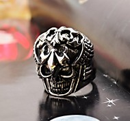 Vintage Men's Complex Carving Stainless Steel Ring