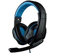 OVANN X2 Over-Ear 3.5mm Stereo Professional Gaming Headset with Microphone for PC Game (Blue/Red/Green)