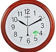 "Timess™ 9""H  Imitation Wood Grain Coating Mute Wall Clock"