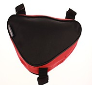 Bicycle Mountain Bike Riding Maintenance Triangle Bag Red and Black