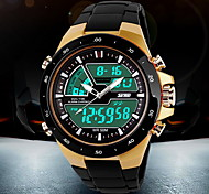 Men's Watch Sports Analog-Digital LCD Watch Water Resistant/Water Proof Calendar Multi-Functional Dual Time Zones Cool Watch Unique Watch