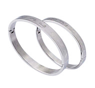 Fashion  Little Foot   Couple Silvery 316L Stainless Steel Bangle