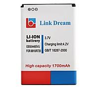 Ligação Sonho 3.7V 1700mAh Celular EB504465VU Bateria para Samsung Admire R720