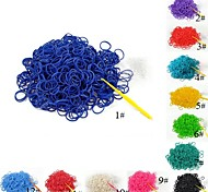 (300 pcs/pack)Pure Color Loom Bands Style Rubber Band with 12pcs S Hook and
