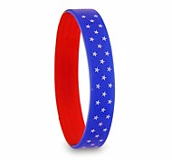 (1 Pc)European 6cm Unisex as Picture Silicone Bangle