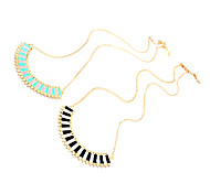 Fashion Crescent Moon Shape Golden Alloy Pendent Necklace(1 Pc)