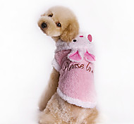 Cute Bunny Downy Coat with Hoodie for Pets Dogs (Assorted Colors, Sizes)