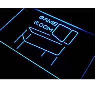 sala de juegos signo luz de neón decoración pantalla pinball