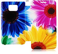 Flower Series Leather Full Body Case for Samsung Galaxy S2 I9100 (Assorted Color)