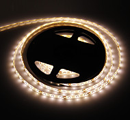 Waterproof 5M 24W 300x3528SMD 3000-3500K Warm White Light LED Strip Lamp (DC 12V)