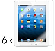 [6-Pack] alta calidad Invisible Shield Smudge Protector de pantalla para iPad Prueba 2/3/4