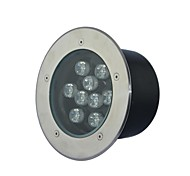 9 LED High Power / pur / Cool White Light Underground AC85-265V chauffent