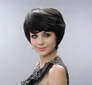 Монолитным Короткие высокого качества парики из синтетических волос сторону взрыва 2 Цвета