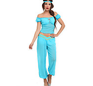 Princess Jasmine Lake Blue Polyester Women's Halloween Costume