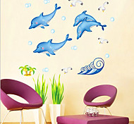 Dolphin Pattern Wall Sticker(1PCS)