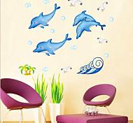 Dolphin adesivos de parede padrão (1PCS)