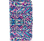 Abstract Triple Carpet Pattern PU Leather Case with Card Holder for Samsung Galaxy I8160