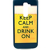 Keep Calm and Drink on Beer Pattern Hard Case for HTC G2/D801 Magic