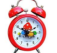 "Timess™ 3""H Cute Mushrooms Bell Night-light Mute Alarm Clock"