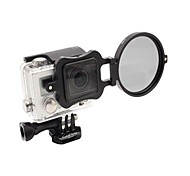 2014 New Arrival camera accessories 58mm Flip Converter for Gopro 3 Housing - Black