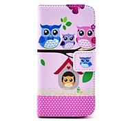 Коко FUN ® Прекрасный Сова Семья шаблон PU кожаный чехол всего тела с экрана протектор, Stylus и подставка для iPhone 5C