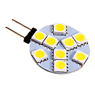 G4 2.5 W 9 SMD 5050 130-180 LM Warm wit/Koel wit 2-pins lampen DC 12 V