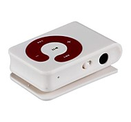 Mini Clip Plug-in Micro SD Card TF Card Reader MP3 Music Player - Dull-White