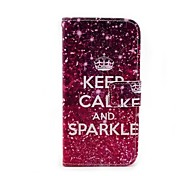 Keep Calm and Sparkle Pattern Protective PU + PC Case for Moto G