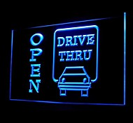 Car Drive Thru Open Advertising LED Light Sign
