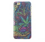 Colorful Oil Painting Pattern Hard Case with Matte Back Cover with Matte Back Cover for iPhone 5C