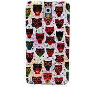 The Heart-Shaped Owl Wall Pattern Soft Case for Samsung Galaxy Note 3 N9000 N9001