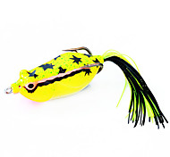 Fishing Bait Frog 60mm/16g Yellow Fishing Lure Pack with Two Hooks