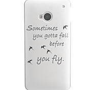 Letters and Birds Design PC Hard Case for HTC ONE M7