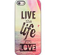 Live the Life you Love Design Aluminium Hard Case for iPhone 4/4S