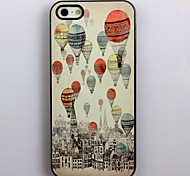 Retro Design Air Balloons Pattern Aluminum Hard Case for iPhone 4/4S