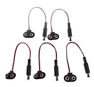 Bouton YuanBoTong 6F22 9V batterie DIY Power Plug pour Arduino (5pcs)