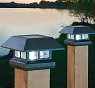 Solar Post Cap Light Deck Fence Mount Outdoor Garden Fence Lamp