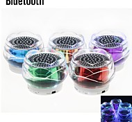 LED Mini Bluetooth Speaker with Mic/TF Card Port  /Mp3/Mp4/ iPhone (RGB)(Assorted Color)