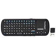 ipazzport KP-810-19 Germany + English Language Mini Wireless 2.4GHz 84-Keys Keyboard - Black