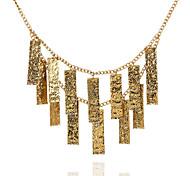 Retro Fashion Rectangular Bars  Necklace