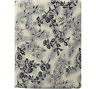 Flower Pattern 360 Degree Rotating Stand PU Leather Case for iPad 2/3/4