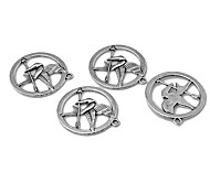 Vintage Little Hang Hunger Games Silver Alloy Accessoris (10Pcs)
