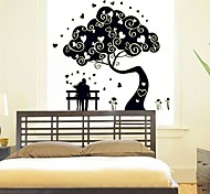 Marriage Room Background Decorative Stickers Noctilucent Design Plastic Wallpaper(Black x1pcs)