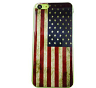 Retro America Flag Pattern PC Back Case for iPhone 5C