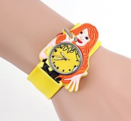 Children's Simple Design Cartoon Silicone Clap Watch(1pc)  Cool Watches Unique Watches