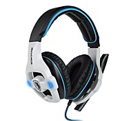 SADES SA903 7.1 Channel Surround Sound Profesional Gaming Headset Auriculares con micrófono para PC del juego (Negro / Blanco)