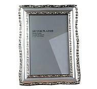 """European Metallic Silver Photo Frame 6"""""""